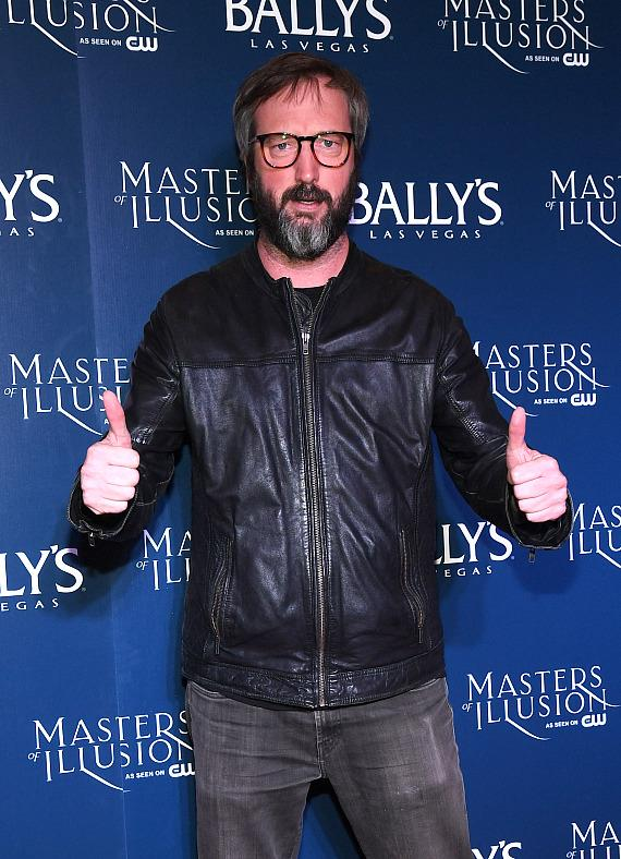 Tom Green on the red carpet at opening night of Masters of Illusion at Bally's Las Vegas