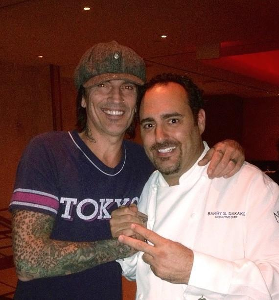 Tommy Lee with Chef Barry at N9NE Steakhouse