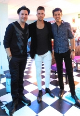 "Renowned Musician Tony DeSare and Big Time Rush Star James Maslow attend ""Frankie Moreno – Under The Influence"" at Planet Hollywood Resort & Casino"