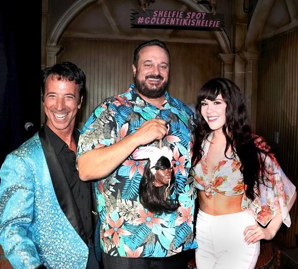 Playboy Playmate Claire Sinclair and Comedian Monti Rock III Help The Golden Tiki Celebrate 2 Year