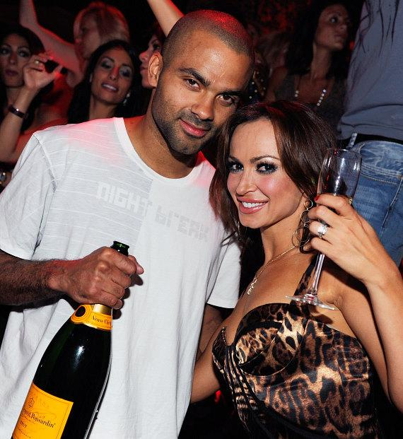 Tony Parker and Karina Smirnoff at TAO