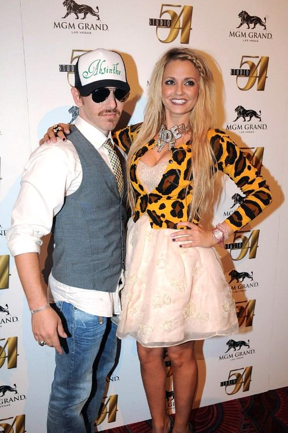 Tony Tightropes and Angel Porrino at Nitro Circus after-party, Studio 54 Las Vegas