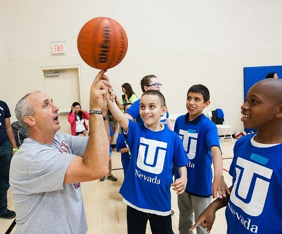 Doug Lee at Touro Basketball Clinic