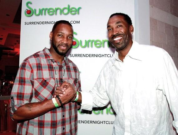 Tracy McGrady with Derrick McKey