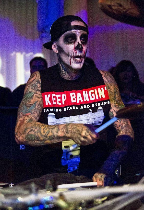 Travis Barker performs at PURE Nightclub