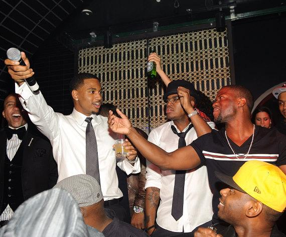 Ne Yo, Trey Songz and Kevin Hart at LAVO