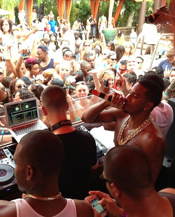 Trey Songz at TAO Beach