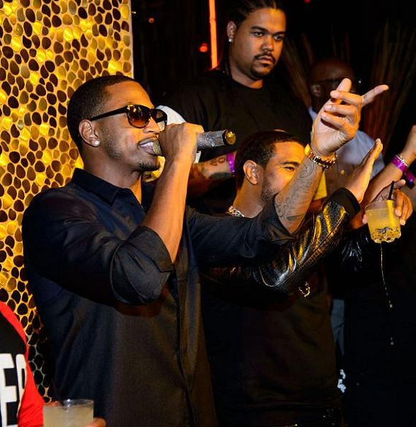 Trey Songz, Scott Disick and Tyga at TAO Nightclub