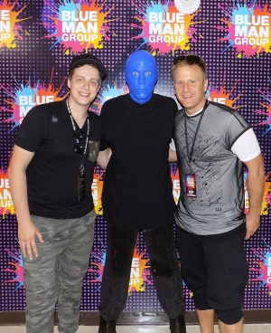 Tritonal's Chad Cisneros and David Reed at Blue Man Group