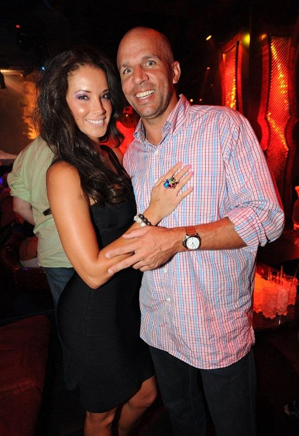 Jason Kidd and Porschla Coleman at Tryst Nightclub