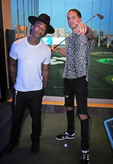 Ty Dolla $ign and Rapper/Producer G-Eazy visit Topgolf Las Vegas