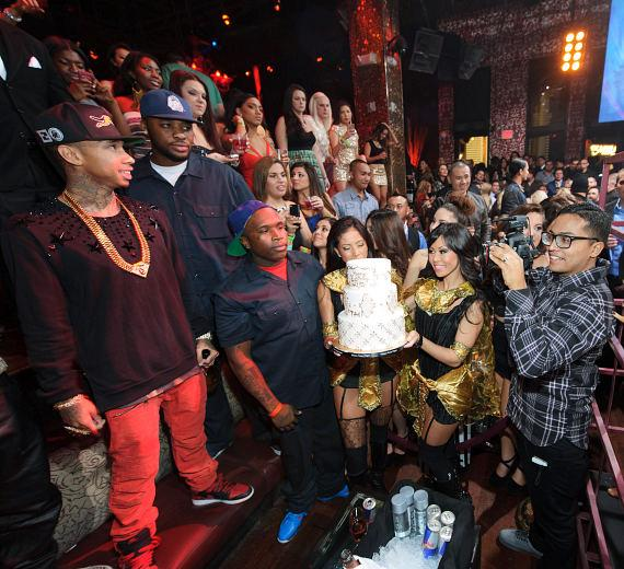 Tyga celebrates his birthday at TAO