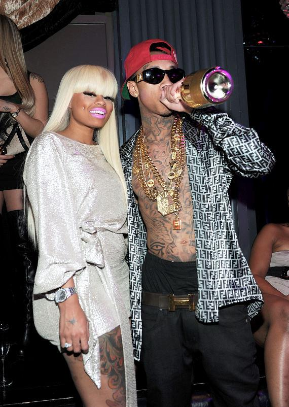 Tyga parties with girlfriend, Blac Chyna, at Chateau Nightclub & Gardens
