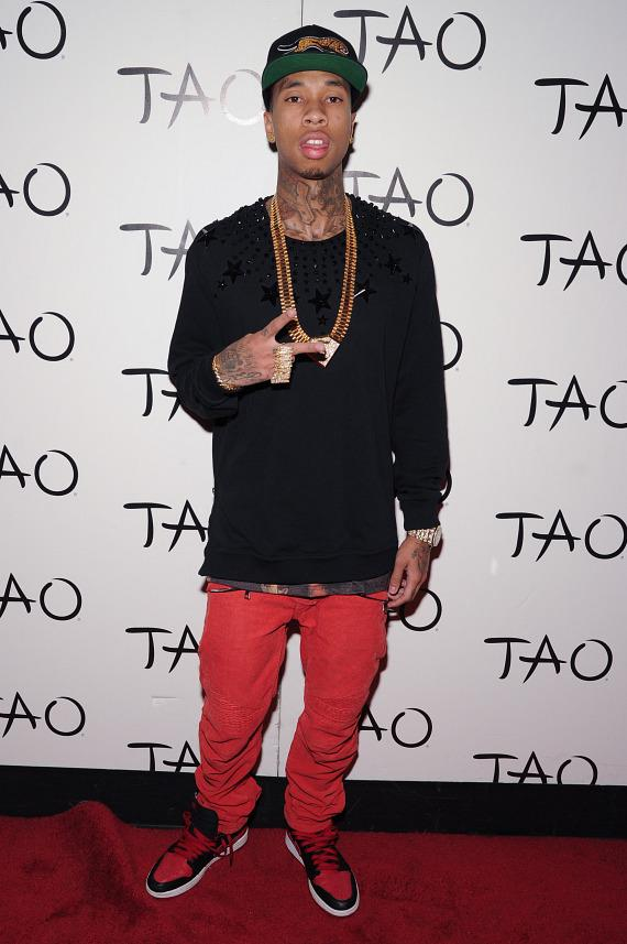 Tyga on red carpet at TAO