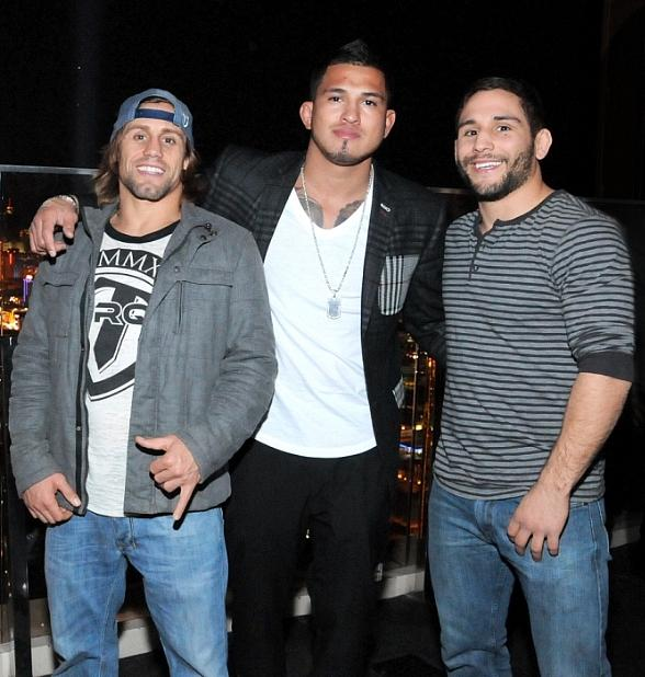 Urijah Faber, Anthony Pettis and Chad Mendes at miX Lounge in Mandalay Bay