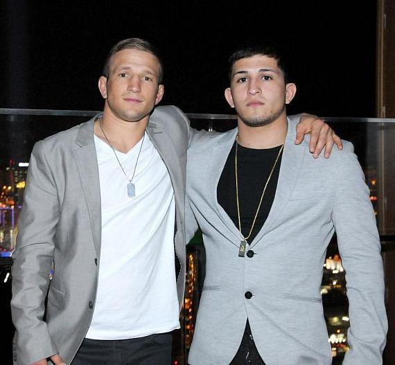 TJ Dillashaw and Sergio Pettis at miX Lounge in Mandalay Bay