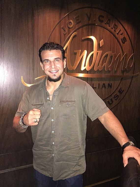 UFC Heavyweight Frank Mir at Andiamo Steakhouse