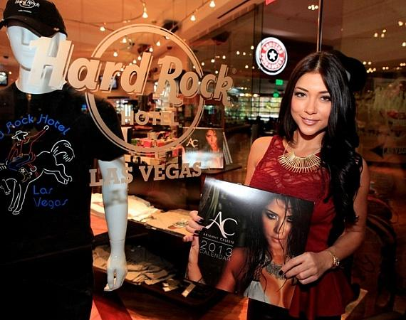 UFC Octagon girl Arianny Celeste signs calendars and meets fans at Hard Rock Hotel & Casino