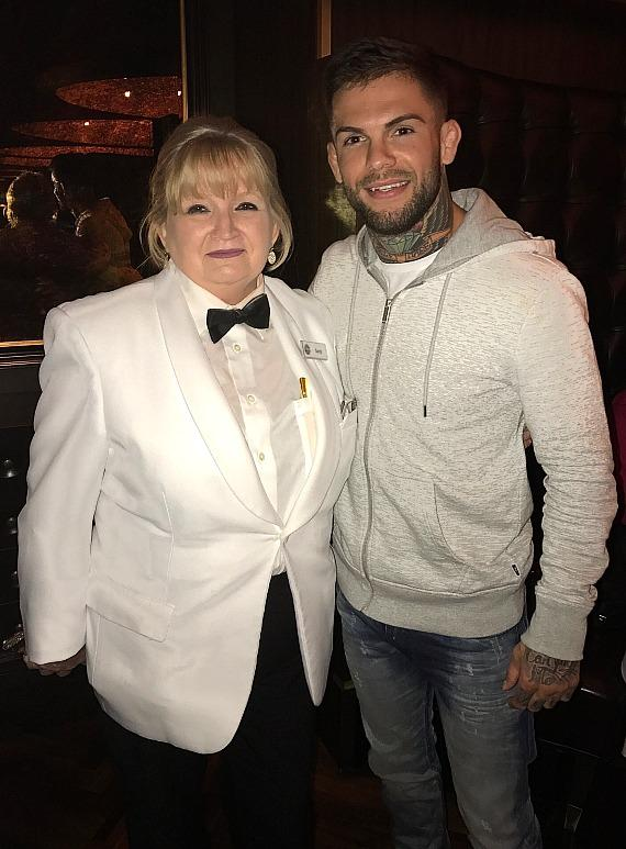 "Andiamo server Sandy with UFC Bantamweight Champion Cody ""No Love"" Garbrandt"