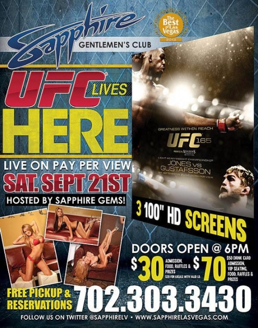 UFC 165 Live on PPV at Sapphire Las Vegas