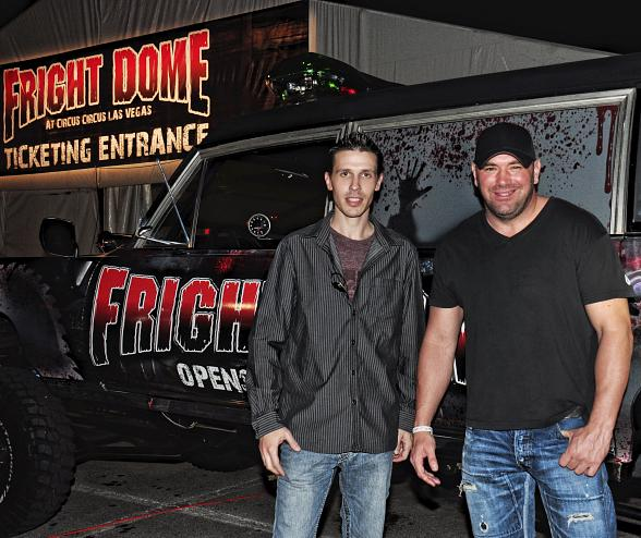 Fright Dome owner Jason Egan with UFC President Dana White