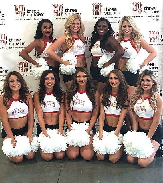 UNLV Pom Girls Support Three Square Food Bank's Hunger Action Month in September