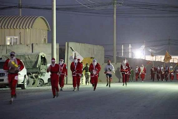 US Soldiers running for GSR in Afghanistan