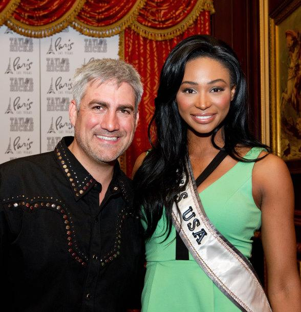Paris Las Vegas headliner Taylor Hicks with Miss USA 2012 Nana Meriwether