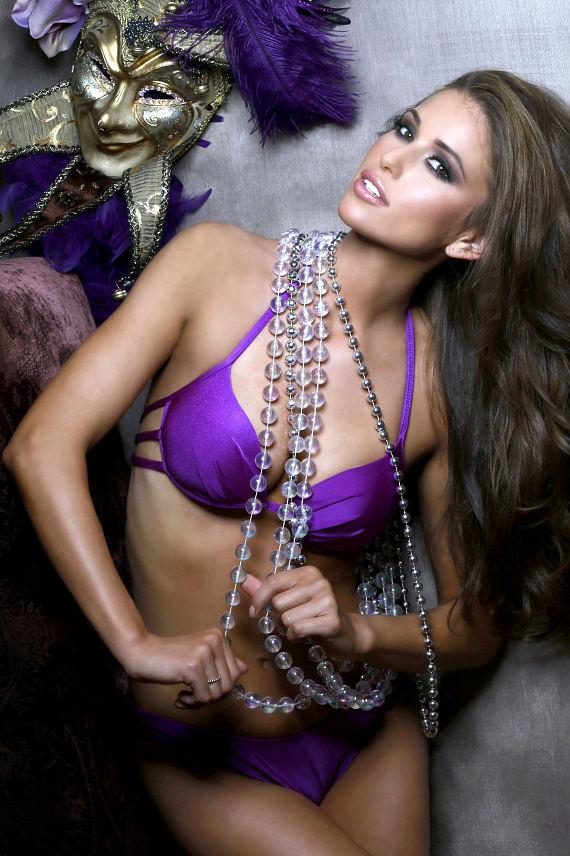 Nia Sanchez, Miss Nevada USA 2014, is photographed by fashion photographer Fadil Berisha in her Kandice Pelletier Swimwear