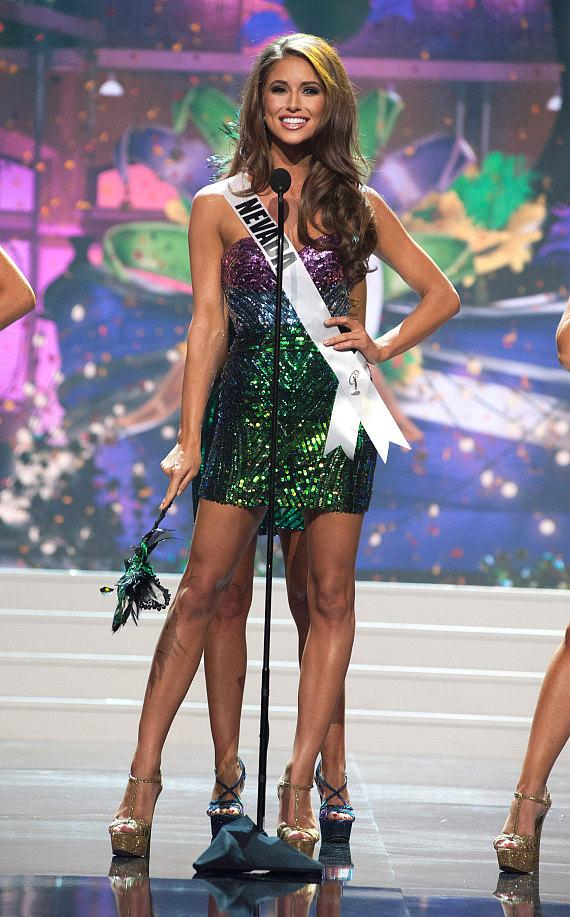 Nia Sanchez, Miss Nevada USA 2014, as she appeared earlier in the broadcast