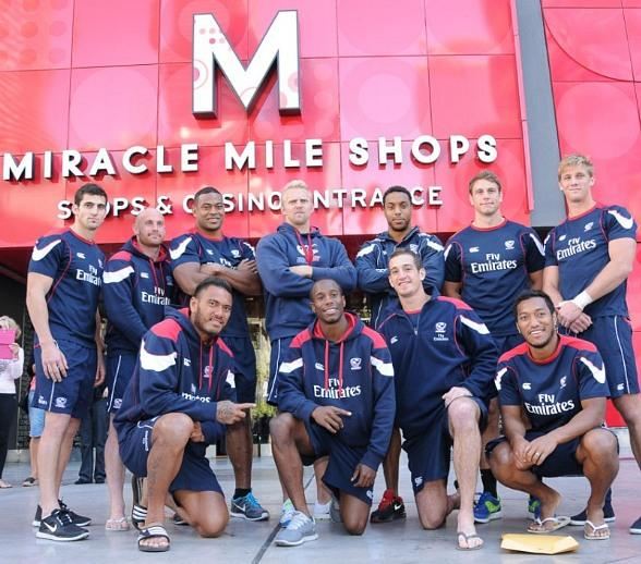 USA Sevens Rugby Pep Rally for USA Eagles at Miracle Mile Shops
