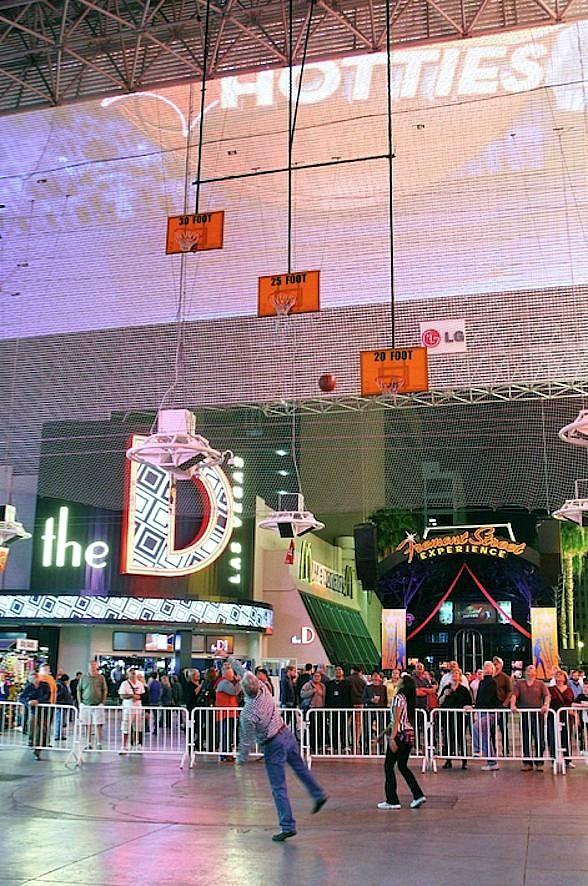 Fremont Street Experience Celebrates College Basketball with the 8th Annual Downtown Hoopstown