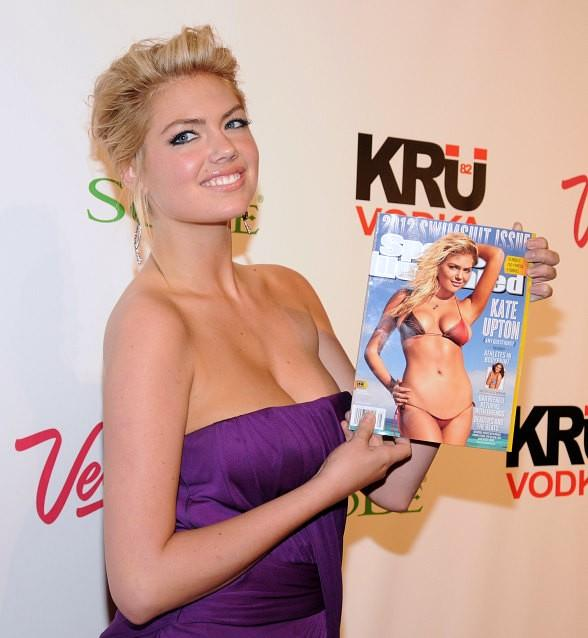 Sports Illustrated Swimsuit Cover Girl Kate Upton at PURE Nightclub in Las Vegas