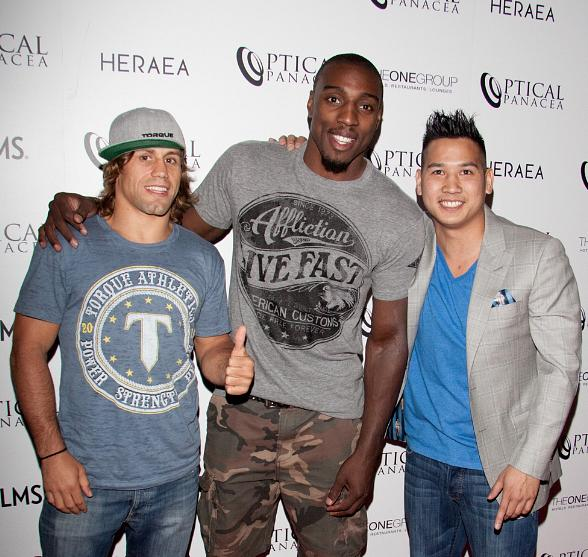 Urijah Faber, Phil Davis and photographer Sam Hon
