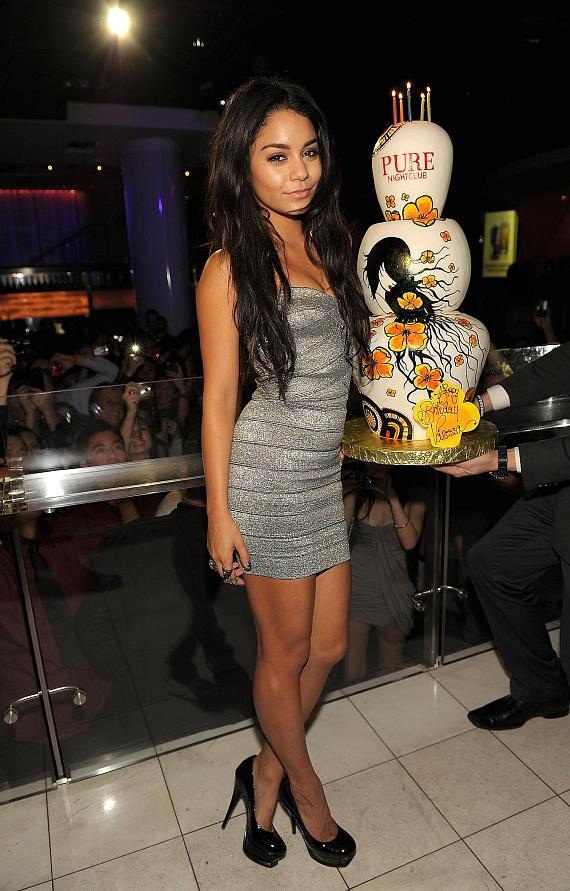 Vanessa Hudgens celebrates her 22nd birthday at PURE Nightclub in Las Vegas