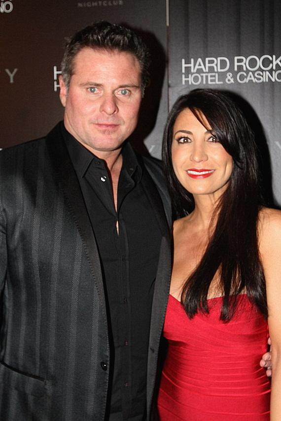 Jason Giambi and his wife at Vanity