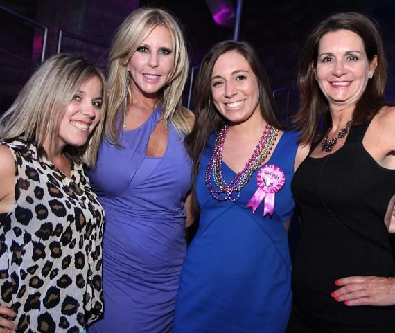 Vicki Gunvalson with friends at Moon Nightclub in Palms Casino Resort