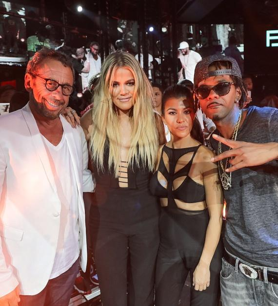 Victor Drai, Khloe Kardashian, Kourtney Kardashian and Lil' Fate at Official Billboard Music Awards After Party at Drai's Nightclub in Las Vegas