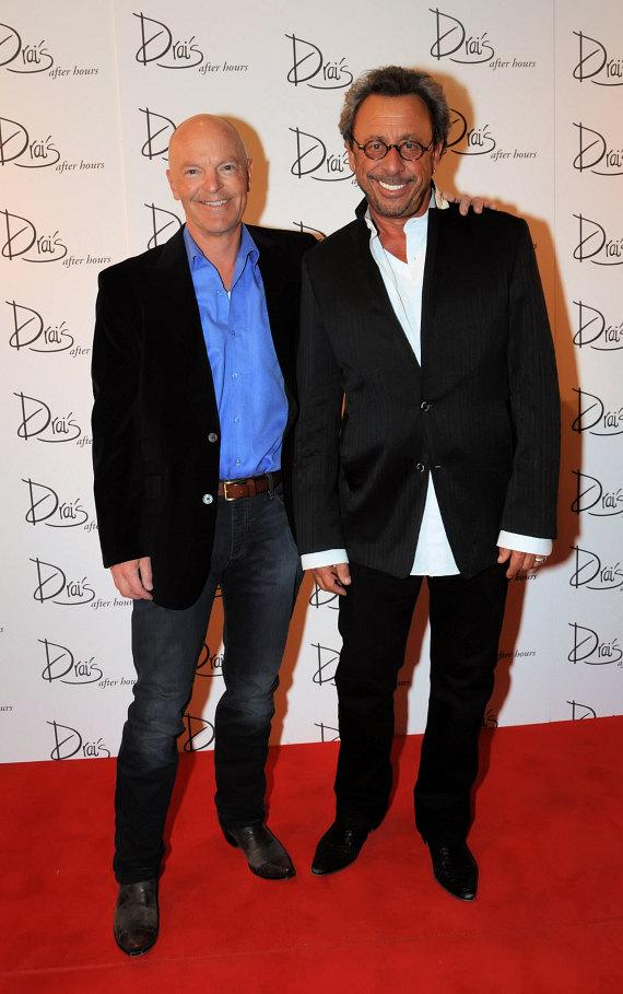 Victor Drai, owner and operator of Drai's After Hours and Bruce Leslie pose on the red carpet outside of Drai's After Hours