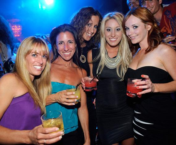 Vienna Girardi (2nd from right) and friends at LAVO