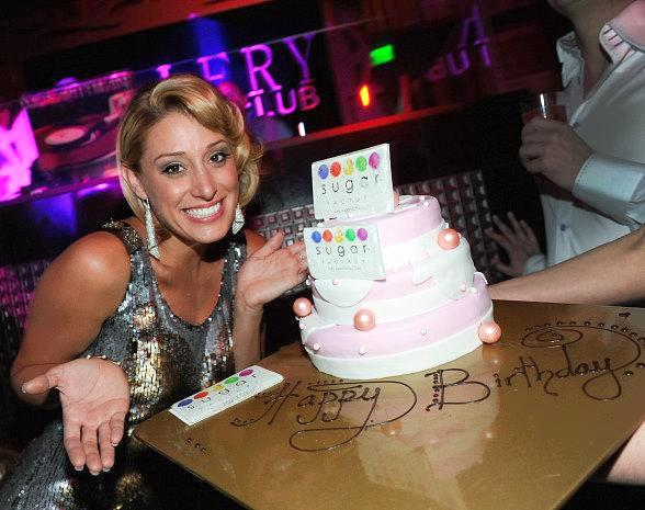 Vienna Girardi with Birthday Cake at Gallery Nightclub