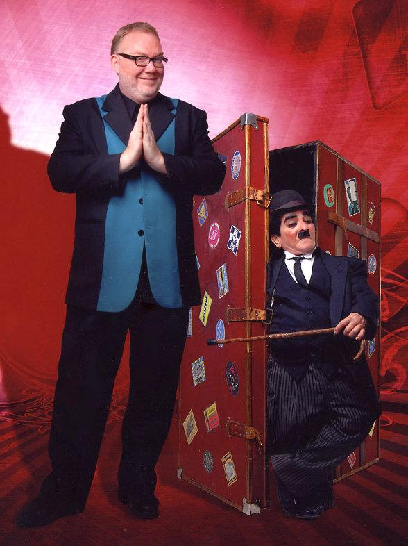 Kevin James with Charlie Chaplin