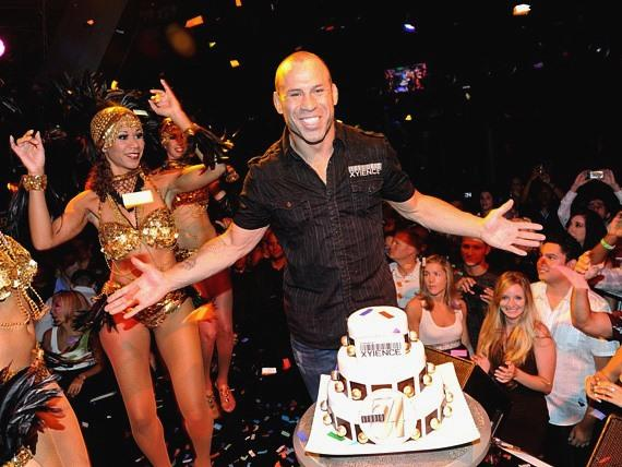 Wanderlei Silva celebrates his birthday on stage at Studio 54