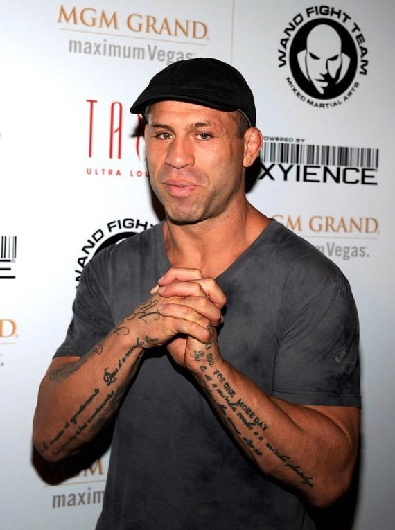 Wanderlei Silva on carpet at Tabu Ultra Lounge, Las Vegas