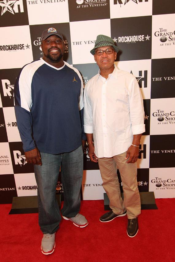 Warren Sapp and Reggie Jackson at Rockhouse
