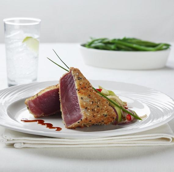 Wasabi and Panko Crusted Ahi Tuna Steak