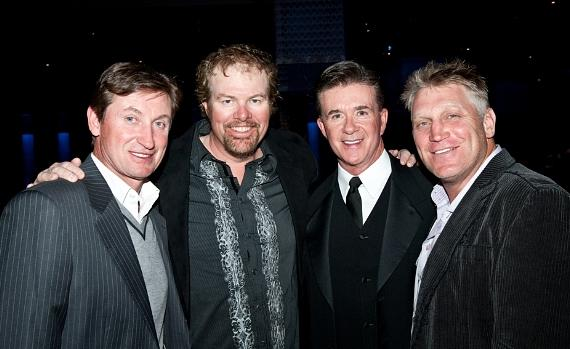 Wayne Gretzky, Toby Keith, Alan Thicke and Brett Hull at MJCI Celebration in Las Vegas