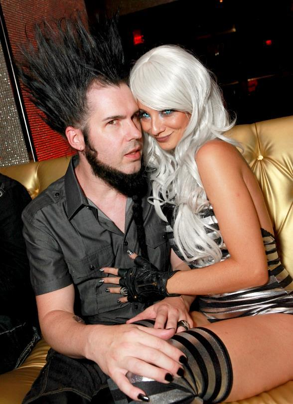 Wayne Static with female friend at Playboy Club