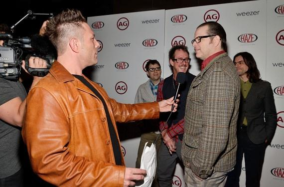 Weezer interviewed on red carpet at Haze Nightclub