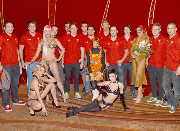 Welsh Sevens Rugby Team Enjoy a Naughty Night Out at Zumanity by Cirque du Soleil